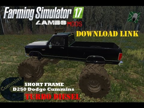 Farming Simulator 17 - Making a Monster Truck -- P3- Download LINK - Dodge Cummins