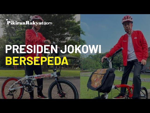 Jokowi Pamer Foto Saat Sepedaan, Ada yang Harganya Sampai Puluhan Juta