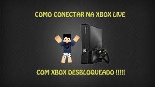 TUTORIAL: Como Entrar Na Xbox Live Com Xbox 360 Destravado passo a passo ( BANDA LARGA )