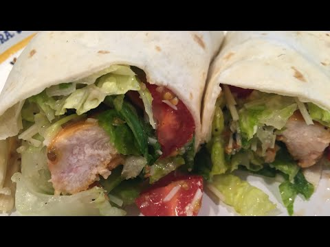 🌯 CHICKEN CAESAR SALAD WRAPS | MY EASIEST RECIPE EVER!! | COOKING W/ Ashley