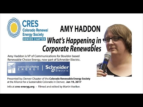 What's Happening in Corporate Renewables -Amy Haddon, Renewable Choice Energy