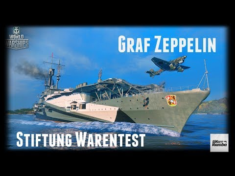Let's Play World of Warships | Graf Zeppelin | Stiftung Warentest [ Gameplay - German  -Deutsch ]