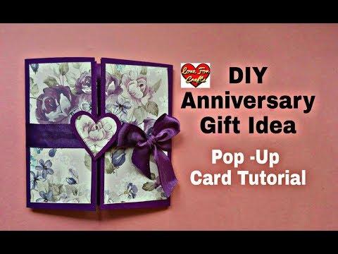 DIY - Anniversary Gift Idea | Anniversary / Valentine's Day Card | Pop - Up Card Tutorial