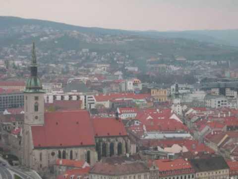 Eagly eye city views of Bratislava Slovakia