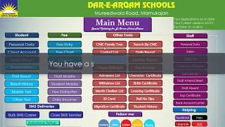 Dar-e-Arqam Schools Management Software Installation.