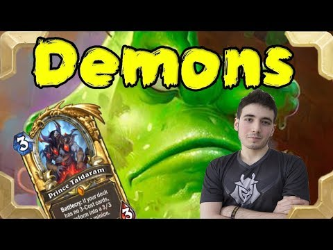 RDU plays a DK Demonlock warlock (Rastakhan's Rumble)