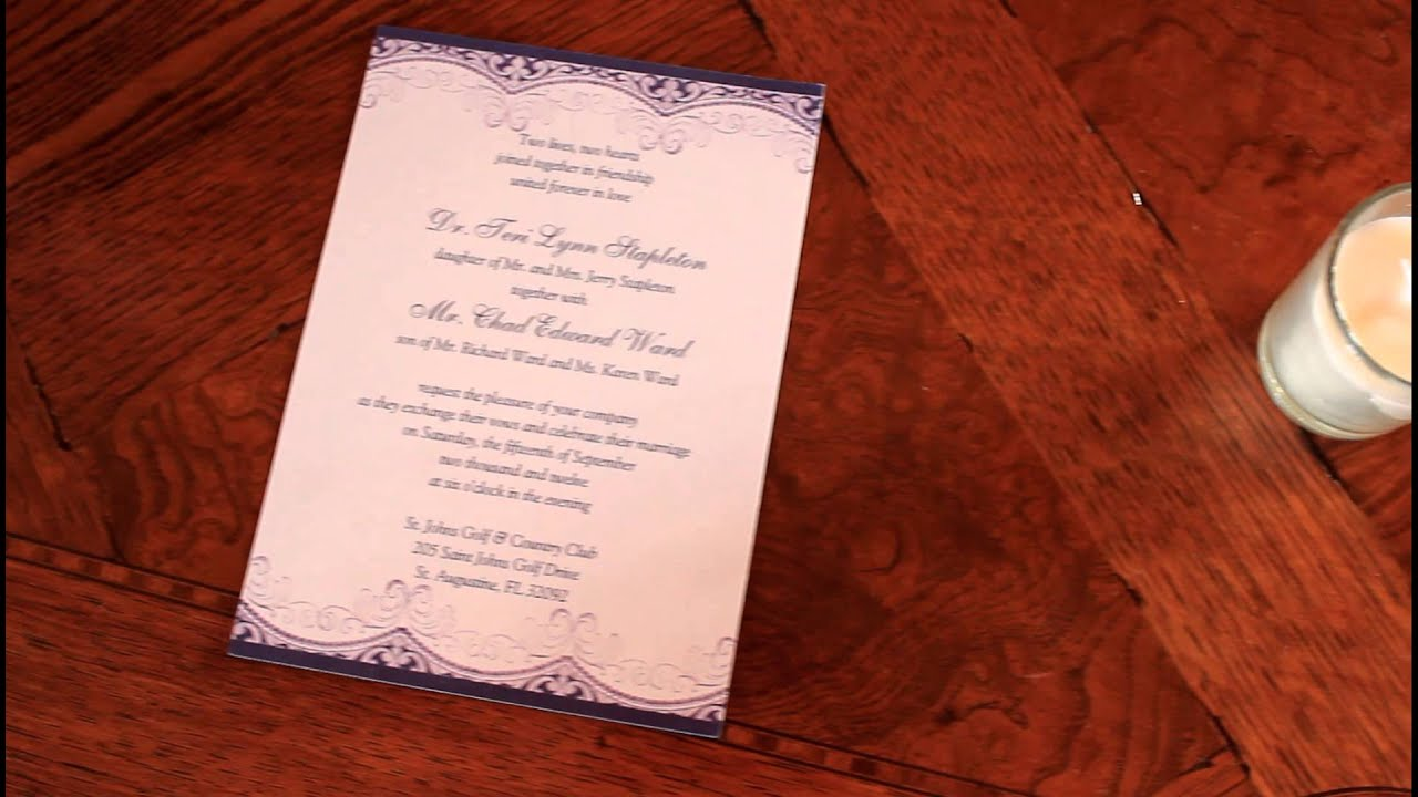 The Ward\'s wedding invitation. 9/15/12. St. John\'s Golf and Country ...
