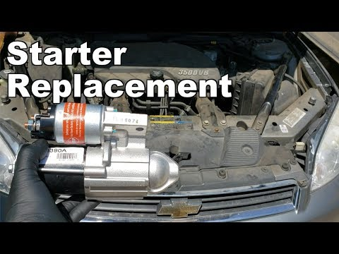 How To Replace A Starter On A Chevy Impala 3.5L 2006-2011