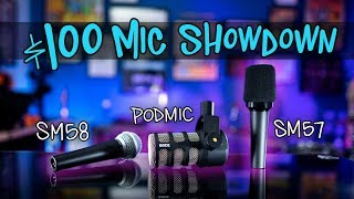 $100 Mic Showdown: Rode PodMic, Shure SM58, Shure SM57