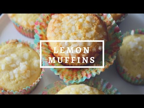 LEMON MUFFIN RECIPE - RECETTE MUFFIN AU CITRON (5 MIN PREP.)