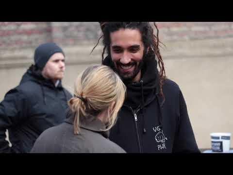 Danish Woman crying from an inspiring conversation wih vegan activist Seb Alex. Copenhagen, Denmark