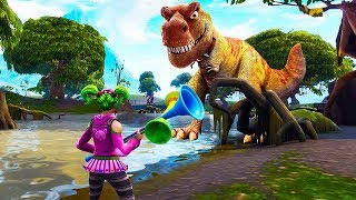 *NEW* DINOSAUR LOOT LAKE EVENT RIGHT NOW! (FORTNITE EVENT UPDATE)
