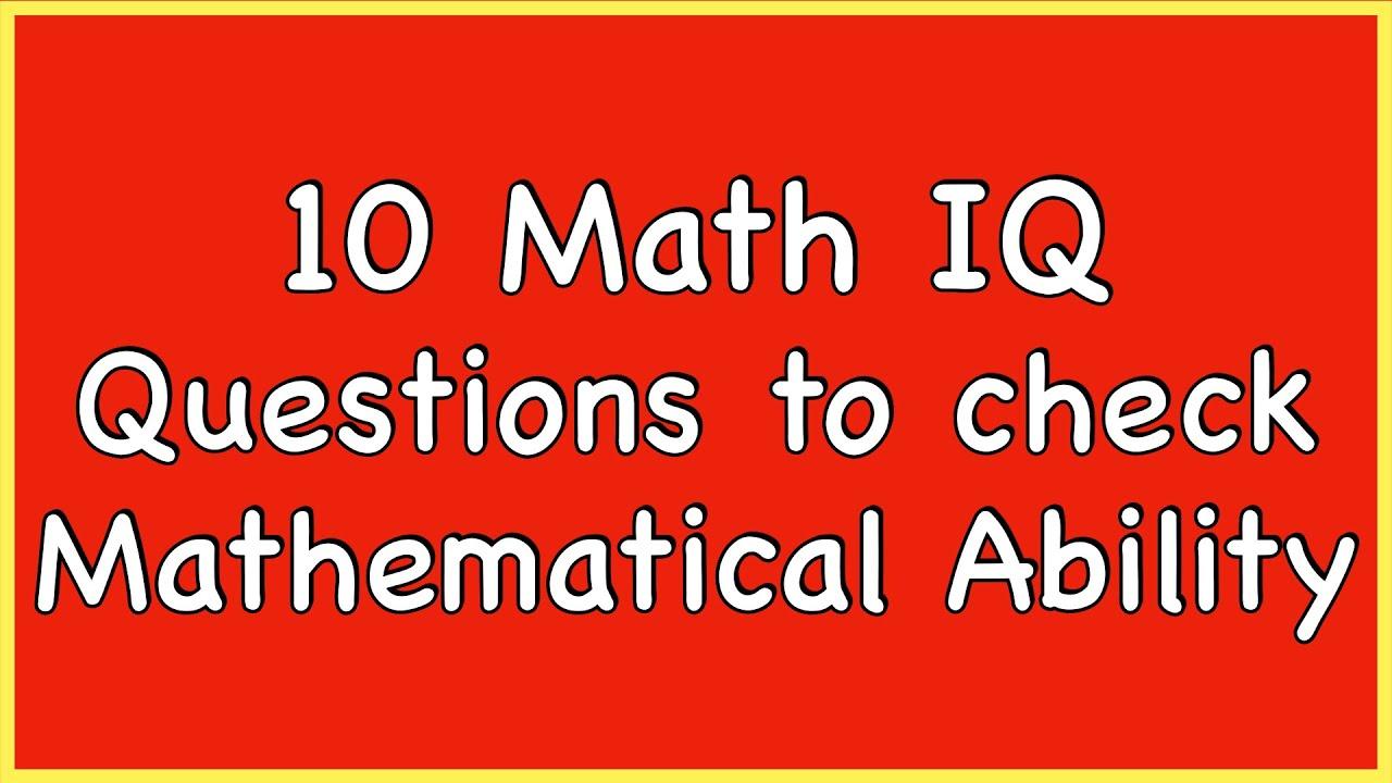 Iq Test Mathe