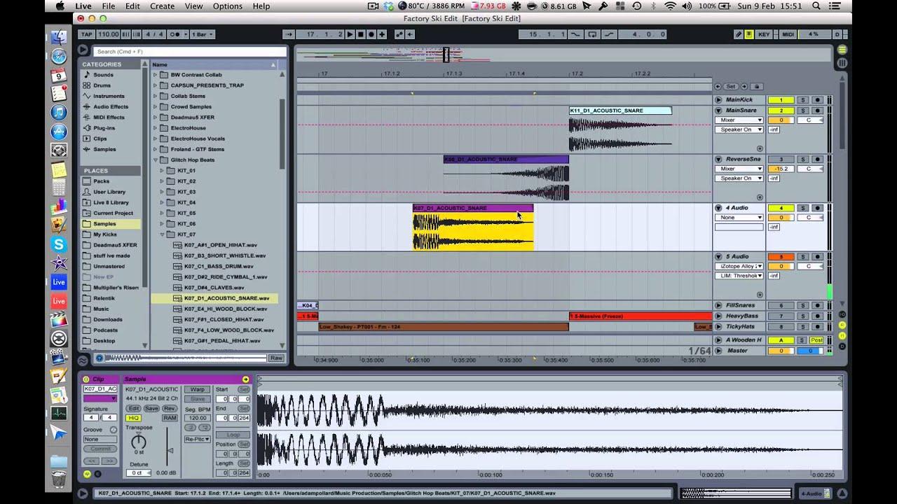 ableton live drum rack reverse sample