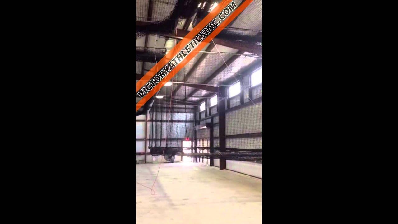 retractable batting cage youtube