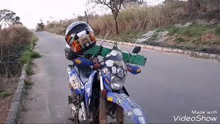 Linha Com Cerol Atinge a Moto Resgate Voluntário.