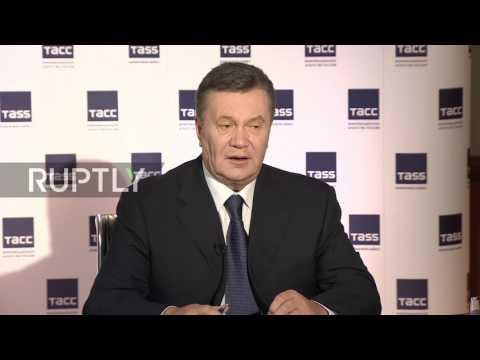 Russia: Yanukovich denounces Kiev's trial in absentia
