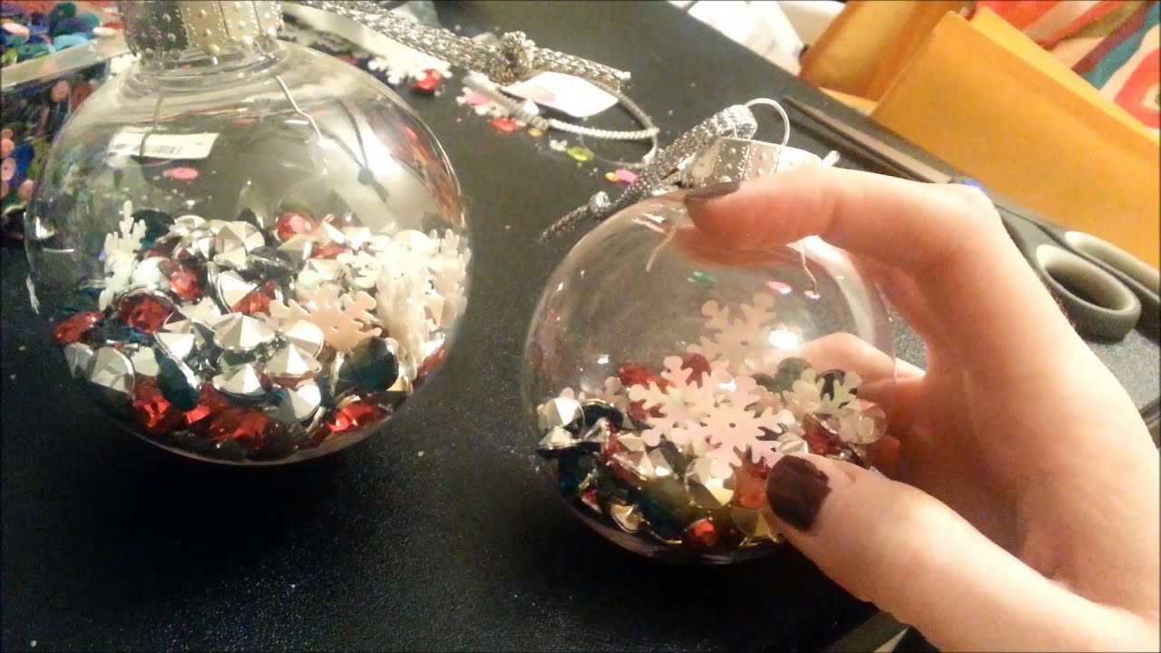diy christmas ornaments great gift idea or for your own tree youtube - Large Plastic Christmas Decorations