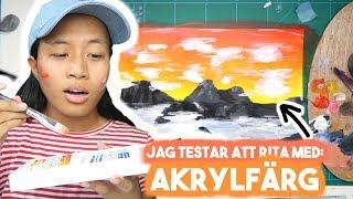 JAG TESTAR ATT RITA MED: AKRYLFÄRG