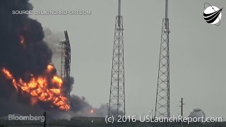 Raw Video: SpaceX Rocket Explodes
