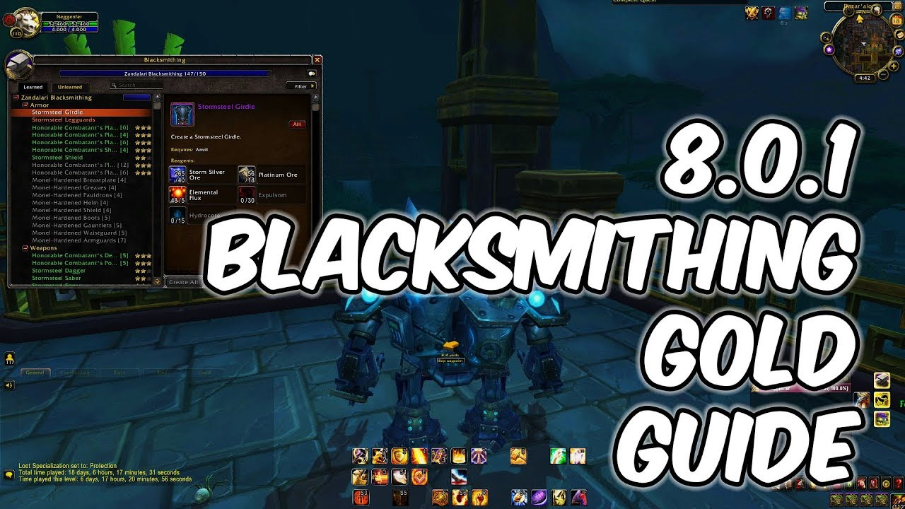 Warlords of draenor: blacksmithing overview guides wowhead.