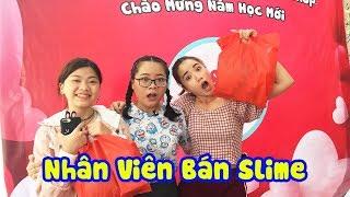 Khai Trương Cà Chua Garden Shop | Vannie & NYN Kid Làm Nhân Viên Bán Slime