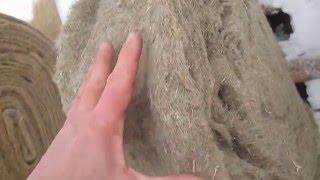видео Утепление стен дома из натуральных материалов – мха, льна и джута
