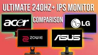 Three 240Hz+ IPS Monitors VS. The KING! ULTIMATE 240Hz Monitor Comparison!