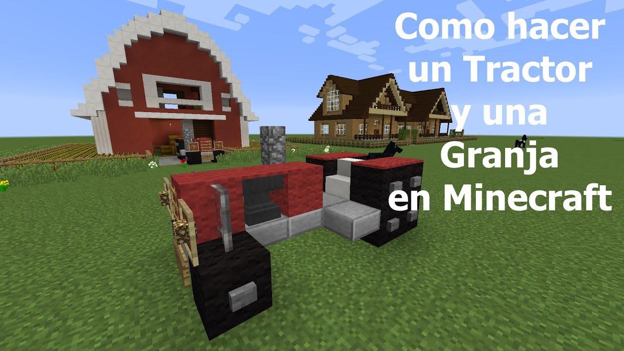 Como hacer un tractor y una granja en minecraft youtube for Como hacer una granja de peces