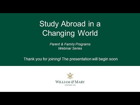 Study Abroad in a Changing World
