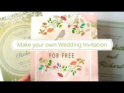 Make Your Own Wedding Invitation For FREE