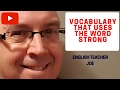 Frame from Learn English: Vocabulary That Uses The Word Strong
