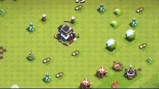 """Clash Of Clans   """"TOWN HALL 9 NO WALLS!""""   Troll Base ."""