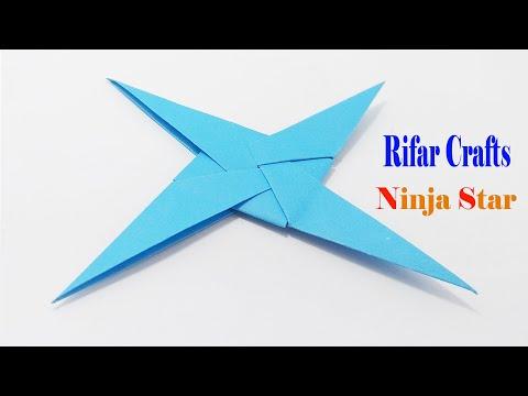 Holidays make paper ninja 2019   Craft ninja weapons   New paper ninja star