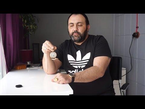 Редкие швейцарские карманные золотые часы Monnard Geneve с календарем