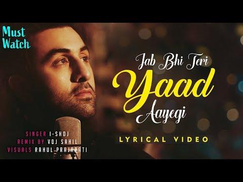 Jab Bhi Teri Yaad Aayegi Lyrics | I-Shoj | VDJ Shail | Teri Yaad Aayegi Lyrical Video