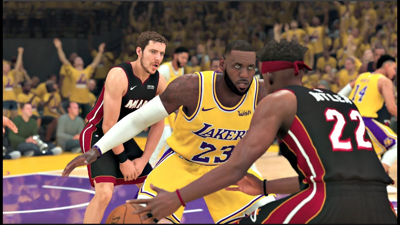 NBA 2K20 Gameplay - Los Angeles Lakers vs Miami Heat – NBA ...