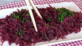 Фантастически простой и вкусный салат из банальной свёклы