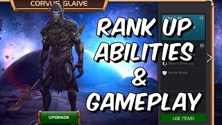Corvus Glaive Rank Up, Abilities & Gameplay - Marvel Contest Of Champions Infinity War 18.0