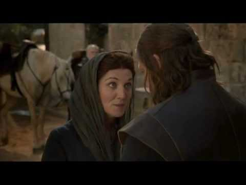 Ned says goodbye to Catelyn (Game of Thrones 1x03 - Commentary by Sophie Isaac and Maisie)