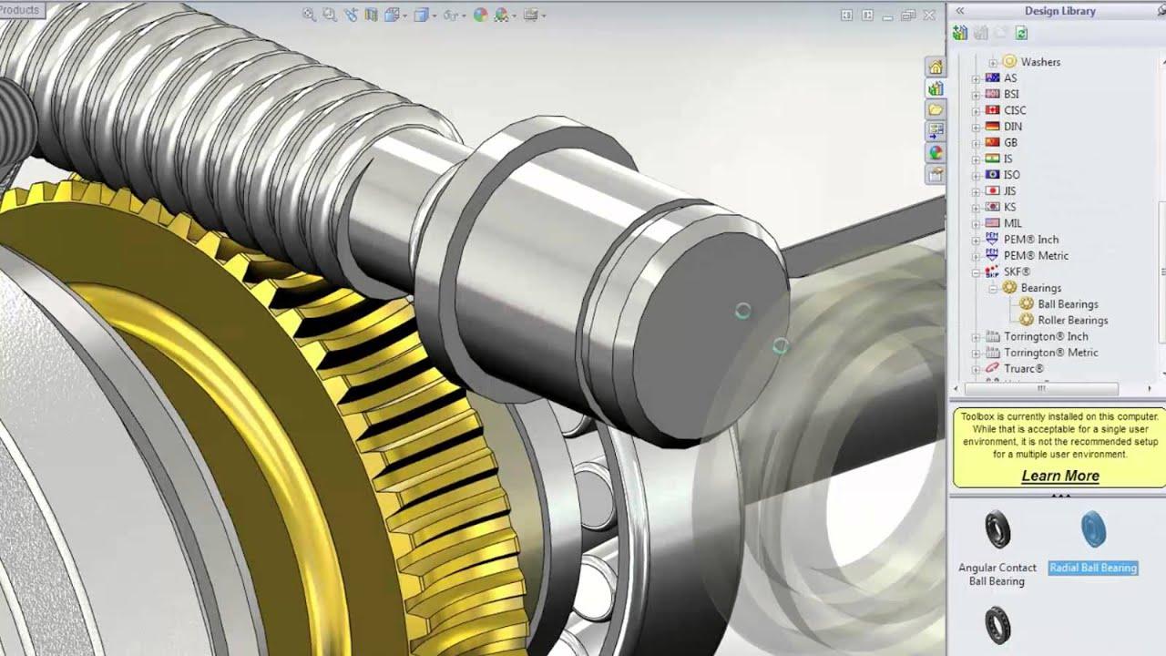 Solidworks 2014 Machine Design Youtube