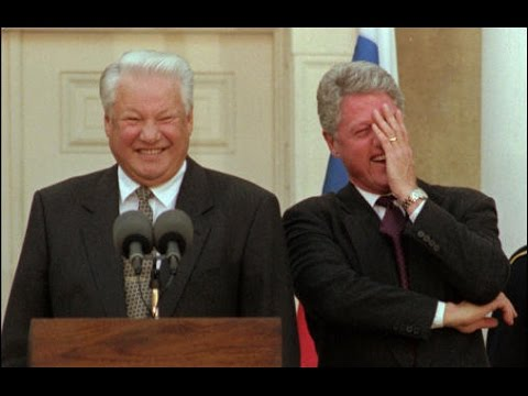Bill Clinton Boris Jelzin Lachanfall Lachflash Lachkrampf