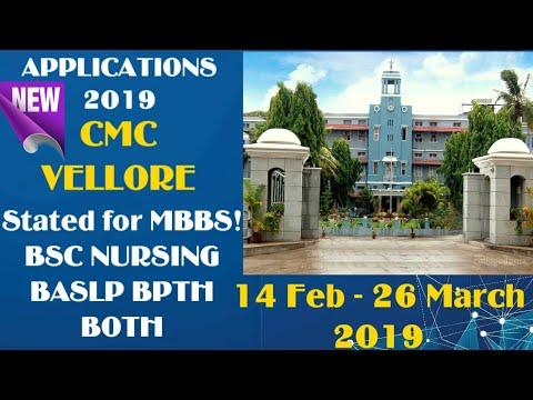 CMC VELLORE 2019 ! APPLICATION FORMS STARTS 14 FEB - 26 MARCH