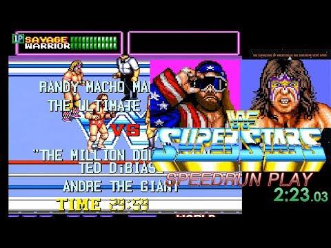 WWF Superstars - 2 Loops Speedrun Play (05:43:480) / WWF 슈퍼스타즈 스피드런 (2루프)