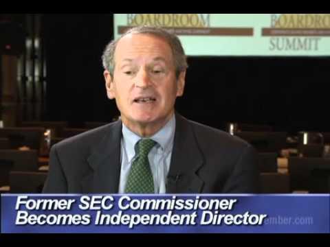 Former SEC Commissioner Becomes Independent Director