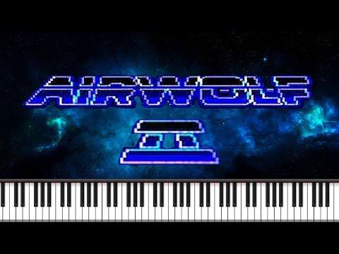 Synthesia [Piano Tutorial] Airwolf 2 - Theme