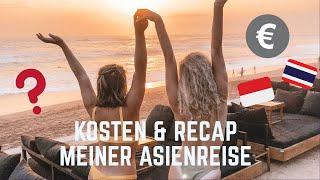 KOSTEN & RECAP MEINER ASIENREISE 🌴✈️ 6 Wochen Backpacking