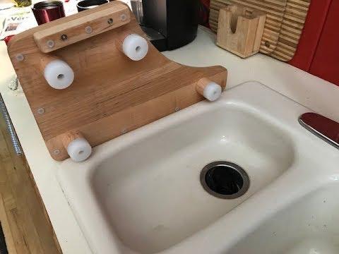 Kitchen Sink Cutting Board - New Custom Woodworking Design