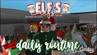 Roblox Bloxburg | Elf es & Santa Daily Routine 🎄☃️