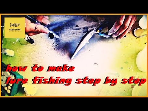 how to make lure fishing step by step   -איך להכין דמויי מבלזה